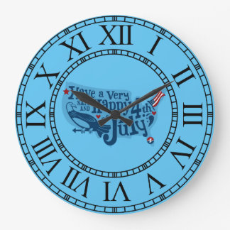 Safe And Happy 4th Of July Wall Clocks