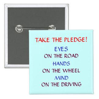 SAFE DRIVING PLEDGE BUTTON