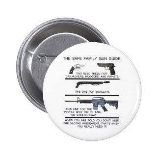 SAFE FAMILY GUN GUIDE 2 INCH ROUND BUTTON
