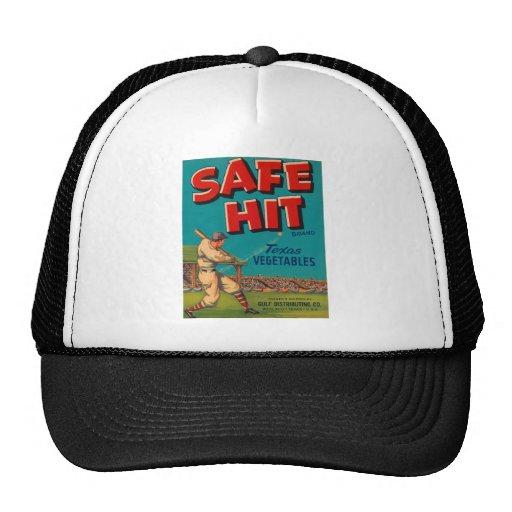 Safe Hit Vegetable Crate Label Hat