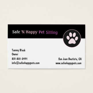 Safe N Happy Business Card