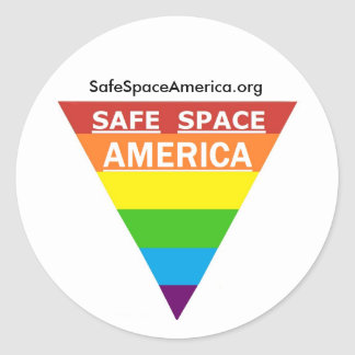 Safe Space America Round Sticker