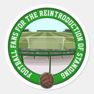 Safe Standing Classic Round Sticker