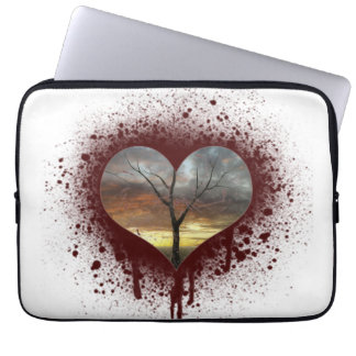 Safe the nature bleeding heart tree of life laptop sleeve