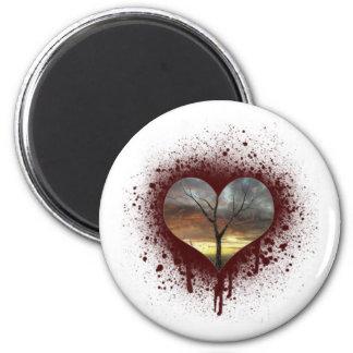 Safe the nature bleeding heart tree of life magnet
