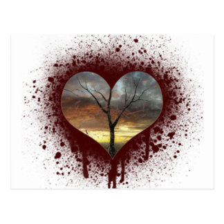 Safe the nature bleeding heart tree of life postcard