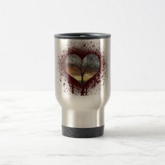 Safe the nature bleeding heart tree of life travel mug