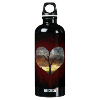 Safe the nature bleeding heart tree of life water bottle