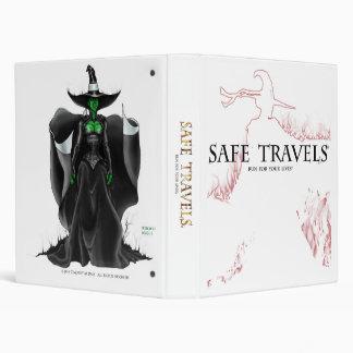 SAFE TRAVELS Cover logo & witch binder2 Vinyl Binders
