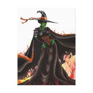 SAFE TRAVELS Witch Stretched Canvas Print