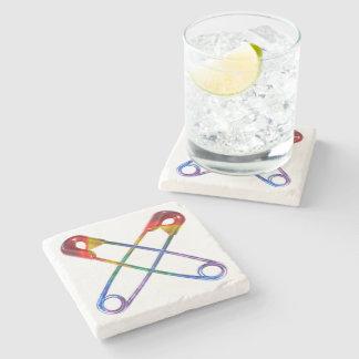 Safe-ty Pin Stone Coaster