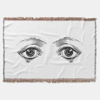 Safe Under the Watchful Eyes Throw Blanket
