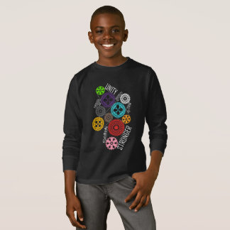 Safe With Me Cogs Boy's Dark Long Sleeve T-Shirt