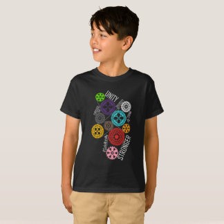 Safe With Me Cogs Boy's Dark T-Shirt
