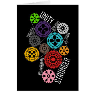 Safe With Me Cogs Dark Greeting Card