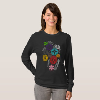Safe With Me Cogs Dark Women's Long Sleeve T-Shirt