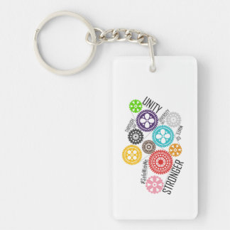 Safe With Me Cogs Key Chain