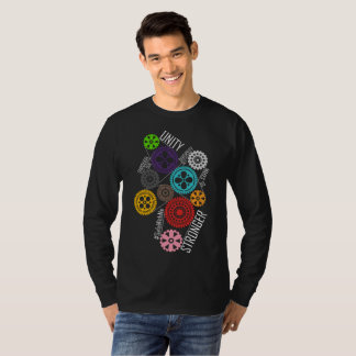 Safe With Me Cogs Men's Basic Long Sleeve Dark Tee