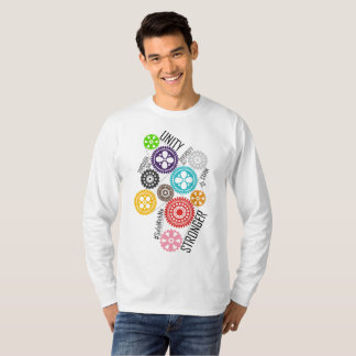 Safe With Me Cogs Men's Basic Long Sleeve T-Shirt