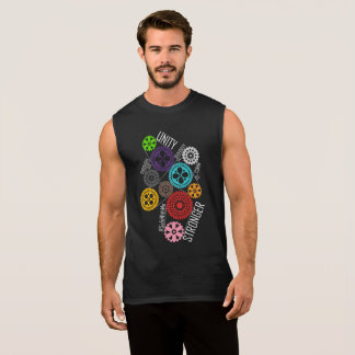 Safe With Me Cogs Men's Dark Muscle Tank