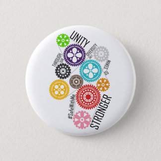 Safe With Me Cogs Round Button