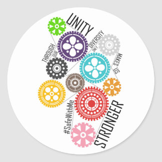 Safe With Me Cogs Sticker