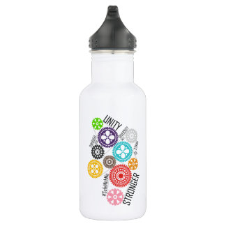 Safe With Me Cogs Water Bottle