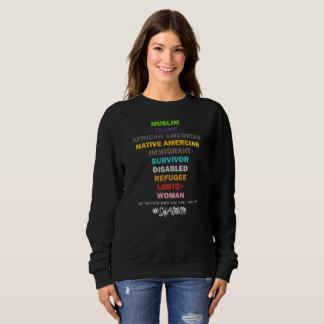 Safe With Me Cross Dark Women's Basic Sweatshirt