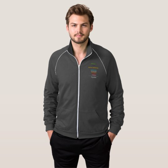 Safe With Me Cross Men's Dark Zip Track Jacket