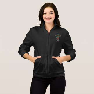 Safe With Me Cross Women's Dark Fleece Zip Jacket