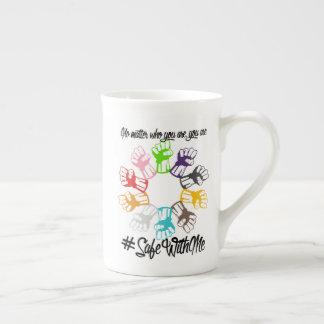 Safe With Me Fists Bone China Mug
