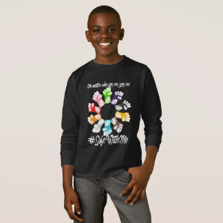 Safe With Me Fists Boy's Dark Long Sleeve T-Shirt