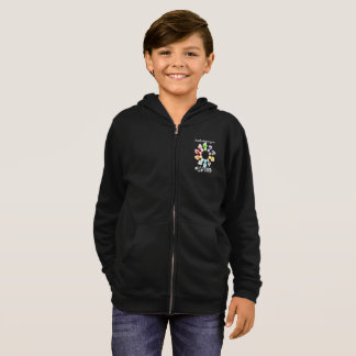 Safe With Me Fists Boy's Zip Hoodie