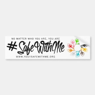 Safe With Me Fists Bumper Sticker