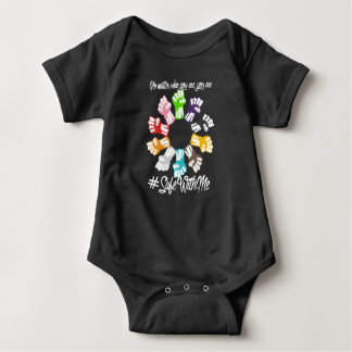 Safe With Me Fists Dark Baby Bodysuit