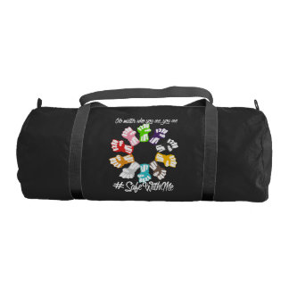 Safe With Me Fists Dark Duffel Bag