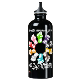 Safe With Me Fists Dark Sigg Water Bottle