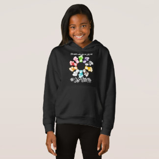Safe With Me Fists Girl's Dark Hoodie