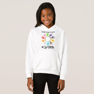 Safe With Me Fists Girl's Hoodie