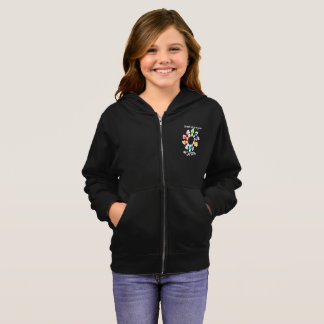 Safe With Me Fists Girl's Zip Hoodie