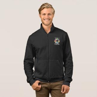 Safe With Me Fists Men's Dark Fleece Jogger Jacket