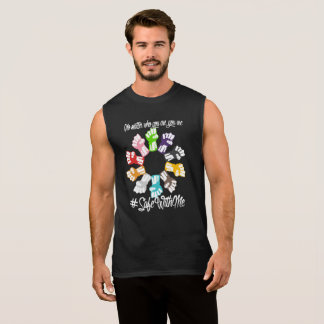 Safe With Me Fists Men's Dark Muscle Tank