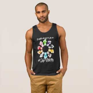 Safe With Me Fists Men's Dark Tank Top