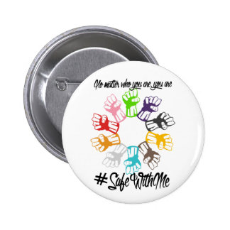 Safe With Me Fists Round Button