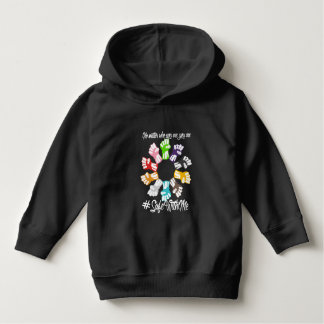 Safe With Me Fists Toddler Dark Hoodie
