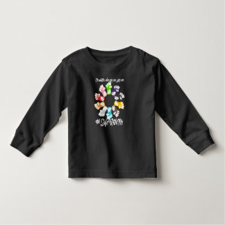 Safe With Me Fists Toddler Dark Long Sleeve Tee