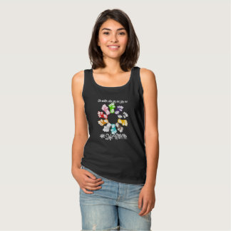 Safe With Me Fists Women's Basic Dark Tank Top