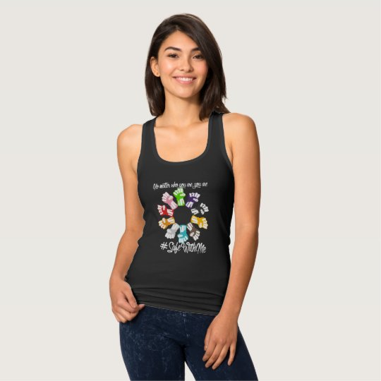Safe With Me Fists Women's Dark Racerback Tank Top