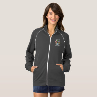 Safe With Me Fists Women's Fleece Track Jacket