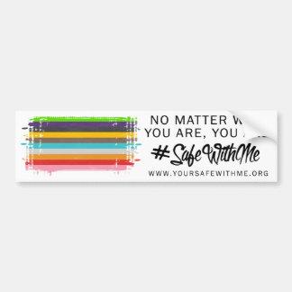 Safe With Me Flag Bumper Sticker